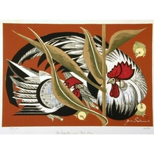 Junichiro Sekino: Mr Rooster and Mrs Hen - Art Gallery of Greater Victoria