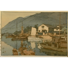 吉田博: Harbour of Tomonoura - Art Gallery of Greater Victoria