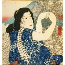 Utagawa Kuniyoshi: Woman with Fishnet - Art Gallery of Greater Victoria