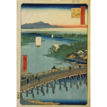 歌川広重: Great Bridge at Senju - Art Gallery of Greater Victoria