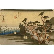歌川広重: Oiso, Tora Ga-Ame - Art Gallery of Greater Victoria