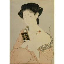 橋口五葉: Woman at Toilette - Art Gallery of Greater Victoria
