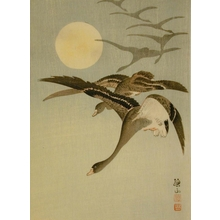 Ito Sozan: Flying Geese and Moon - Art Gallery of Greater Victoria