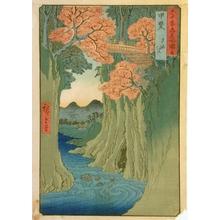 Utagawa Hiroshige: Monkey Bridge in Kai Province #13 - Art Gallery of Greater Victoria