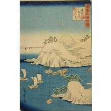 二歌川広重: Snow View of Muronotsu, Harima - Art Gallery of Greater Victoria