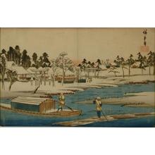 歌川広重: Fine Weather after Snow at Masaki - Art Gallery of Greater Victoria