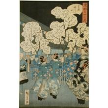 二歌川広重: Naka Sector in the Yoshiwara - Art Gallery of Greater Victoria
