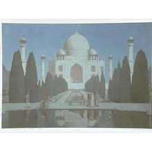 吉田博: Taj Mahal, Night - Art Gallery of Greater Victoria