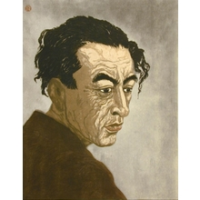 恩地孝四郎: Portrait of the Poet Hagiwara Sakutaro - Art Gallery of Greater Victoria
