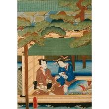 歌川国貞: Lovers Drinking Saki - Art Gallery of Greater Victoria