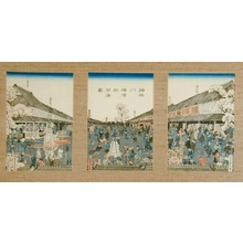 Utagawa Sadahide: The Newly Opened Port of Yokohama in Kanagawa, 1860 - Art Gallery of Greater Victoria