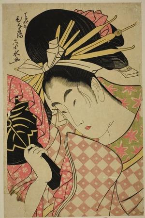 一楽亭栄水: Hinazuru of the Chojiya - シカゴ美術館
