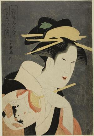 Rekesentei Eiri: Beauties of the Pleasure Quarters (Seiro bijin awase): the Hostess of the Izumiya Teahouse - Art Institute of Chicago