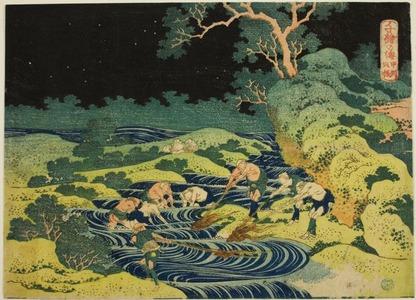 Katsushika Hokusai: Fishing by Torch in Kai Province (Koshu hiburi) from the series