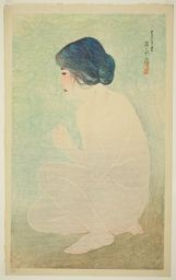 """Ito Shinsui: Early Summer Bath, from the series """"Twelve Images of Modern Beauties"""" - Art Institute of Chicago"""