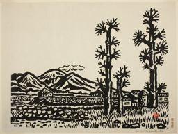 Hiratsuka Un'ichi: Komoro in Nagano, Early Spring - Art Institute of Chicago