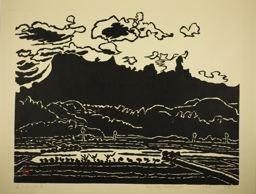 Hiratsuka Un'ichi: Mt. Myogi at Sunset, Gumma Prefecture - Art Institute of Chicago