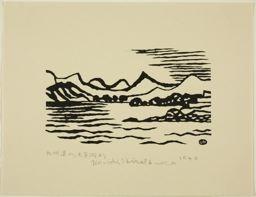 Hiratsuka Un'ichi: View of Mountain Range in Kyushu from the Sea of Amakusa (Kyushu renzan Amakusa-nada yori - Art Institute of Chicago