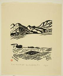 Hiratsuka Un'ichi: Kawaguchi Lake Shore in Koshu District (Koshu Kawaguchi kohan) - Art Institute of Chicago