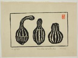 Hiratsuka Un'ichi: Three Gourds (Kabocha) - Art Institute of Chicago