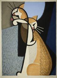 Inagaki Tomoo: Cat Making Up - Art Institute of Chicago