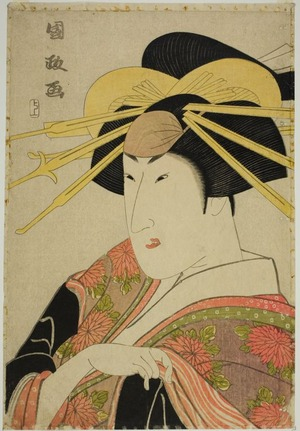 歌川国政: Portrait of an Actor in Female Dress - シカゴ美術館