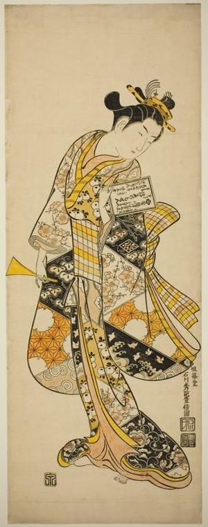 石川豊信: Standing Geisha - シカゴ美術館
