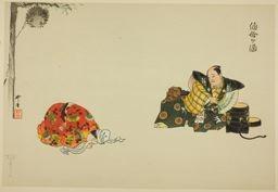 月岡耕漁: Obagasake, from the series