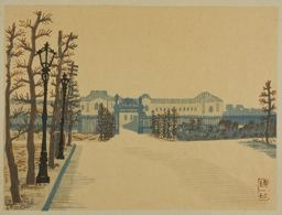 Hiratsuka Un'ichi: Akasaka Palace, from the series