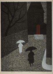 朝井清: Rain, Paris (A) - シカゴ美術館