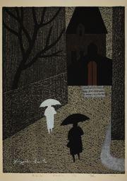 Asai Kiyoshi: Rain, Paris (A) - Art Institute of Chicago