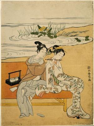 鈴木春信: Playing the Flute - シカゴ美術館