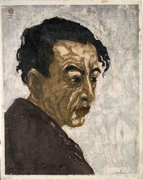 Onchi Koshiro: Portrait of Sakutaro Hagiwara - Art Institute of Chicago