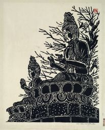 Hiratsuka Un'ichi: Buddha Images in the Open Air at Asakusa Kannon Temple, Tokyo - Art Institute of Chicago