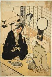 勝川春章: The Actor Ichikawa Danjuro V in His Dressing Room - シカゴ美術館