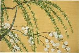 Kamisaka Sekka: Willow and Cherry Branches, from the series