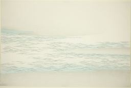 Kamisaka Sekka: Silvered Waves Against a Beach, from the series