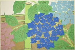 Kamisaka Sekka: Hydrangeas, from the series
