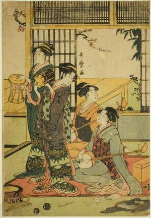 喜多川歌麿: Drums and Shamisen - シカゴ美術館