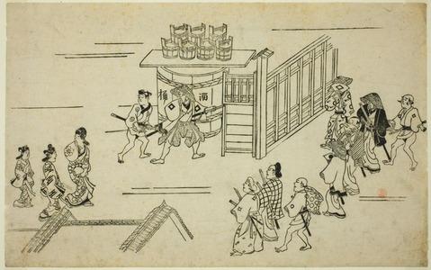 Hishikawa Moronobu: Scene in the Yoshiwara, from the series