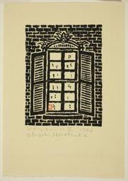 Hiratsuka Un'ichi: Georgetown Window, Washington, D.C. - シカゴ美術館