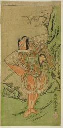 Katsukawa Shunsho: The Actor Ichikawa Danzo III as I no Hayata Tadazumi in the Play Nue no Mori Ichiyo no Mato, Performed at the Nakamura Theater in the Eleventh Month, 1770 - Art Institute of Chicago