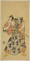 Katsukawa Shunsho: The Actor Ichikawa Danzo III as Fuwa Banazemon in the Play Date Moyo Kumo ni Inazuma, Performed at the Morita Theater in the Tenth Month, 1768 - Art Institute of Chicago