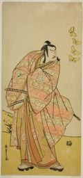 勝川春章: The Actor Otani Hiroji III as Makino Arataro Tokizumi in the Play Hana no O-Edo Masakado Matsuri, Performed at the Ichimura Theater in the Eleventh Month, 1789 - シカゴ美術館