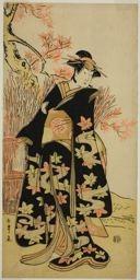 勝川春章: The Actor Iwai Hanshiro IV in an Unidentified Role - シカゴ美術館