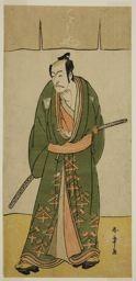 Katsukawa Shunsho: The Actor Ichikawa Danjuro V as Gokuin Sen'emon in the Play Hatsumombi Kuruwa Soga, Performed at the Nakamura Theater in the Second Month, 1780 - Art Institute of Chicago