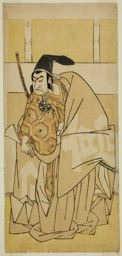 勝川春章: The Actor Nakamura Nakazo I as Ko no Moronao in the Play Kanadehon Chushingura, Performed at the Morita Theater in the Eighth Month, 1779 - シカゴ美術館
