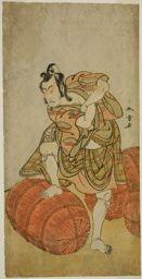 Katsukawa Shunsho: The Actor Matsumoto Koshiro IV as Matsuo-maru in the Play Sugawara Denju Tenarai Kagami, Performed at the Nakamura Theater in the Fourth Month, 1779 - Art Institute of Chicago