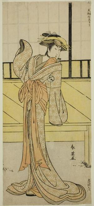 勝川春英: The Actor Segawa Kikunojo III as Okaru in the Play Kanadehon Chushingura, Performed at the Morita Theater in the Eighth Month, 1787 - シカゴ美術館