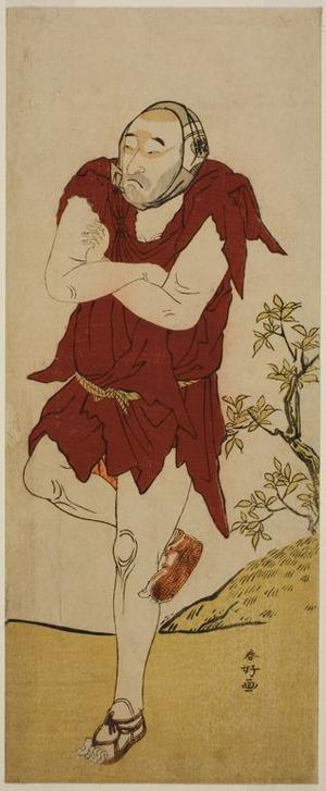 勝川春好: The Actor Onoe Matsusuke I as a Mendicant Monk (Gannin Bozu) in the Play Keisei Ide no Yamabuki, Performed at the Nakamura Theater in the Fifth Month, 1787 - シカゴ美術館